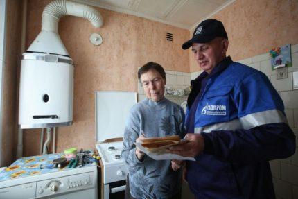 Inspection des équipements intérieurs au gaz