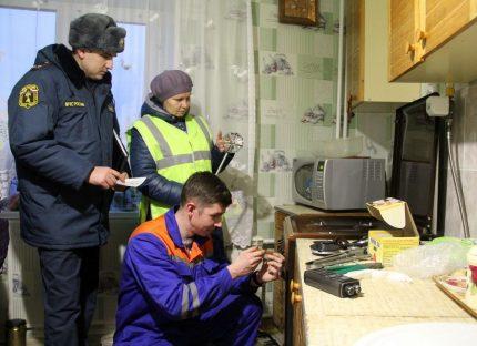 Vérification de l'équipement avant de connecter le gaz