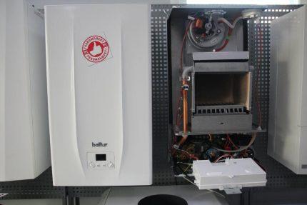 Recherche des raisons de réduire l'efficacité d'une chaudière à gaz