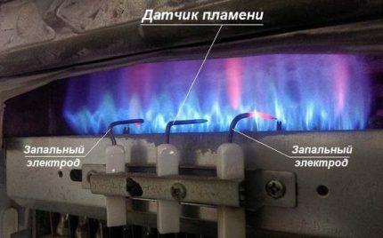 Capteur de flamme à colonne
