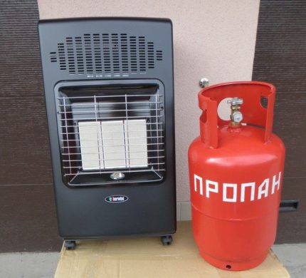 Mobile gas liquefied gas heater