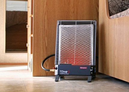 Gas heater in the country