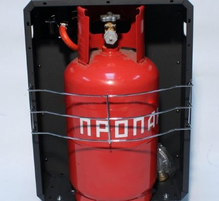Gas cylinder in an insulated box