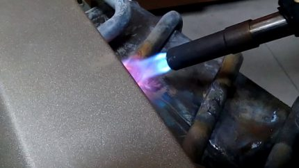 Soldering point heating