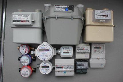 Compteurs de gaz