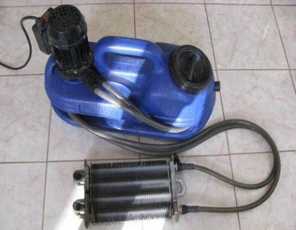 Heat exchanger flushing booster