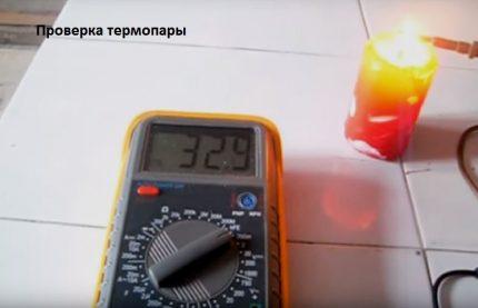 Mesure d'EMF de thermocouple