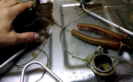 Réparations mineures pendant l'entretien