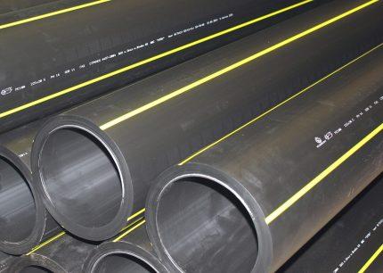 Tuyaux en polyéthylène de haute qualité pour le gaz