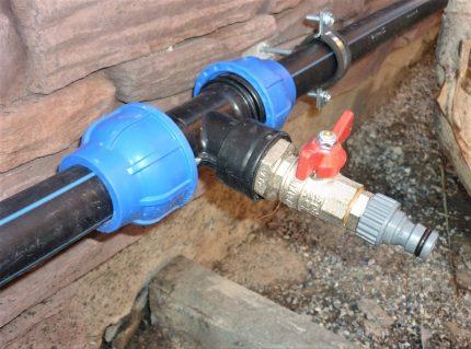 Tuyau d'eau de campagne en tuyaux PE