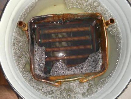 Détartrage de l'échangeur de chaleur