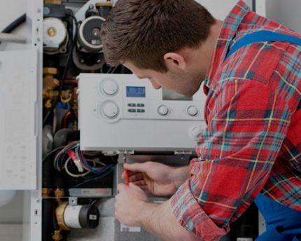 Inspection de chaudière à gaz
