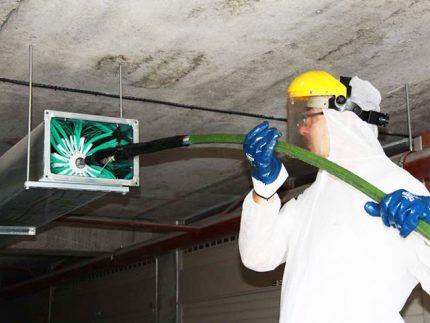 Nettoyage des conduits de ventilation