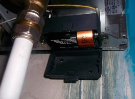 Batteries in the electric ignition system