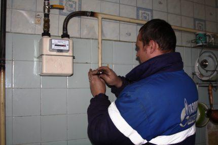 Gas meter installation