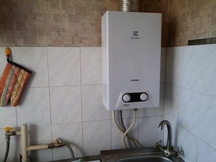 Electrolux column in the kitchen