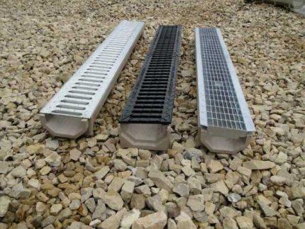 Plateaux de drainage en béton