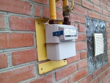 Compteur de gaz extérieur