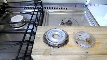Processus de nettoyage du brûleur