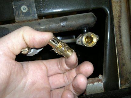 Vérification du robinet de gaz