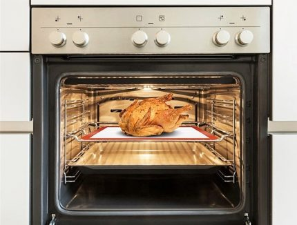 Filling a gas oven