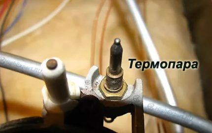 Thermocouple in the construction of a gas stove