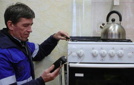 Actions de l'inspecteur des gaz
