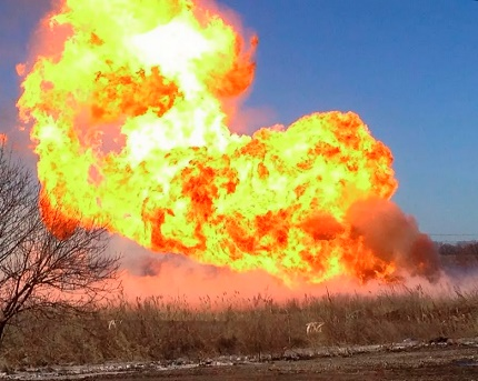 Consequences of a leak in a gas pipeline