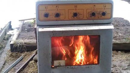 Fait maison à partir d'un vieux poêle à gaz