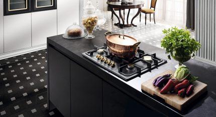 Table de cuisson à gaz intégrée dans la table