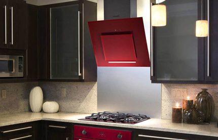 Flat hanging kitchen hood