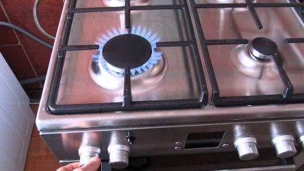 Gas stove breakage