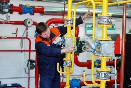 Maintenance PSK in the gas system