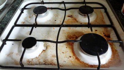 Contamination de la table de cuisson