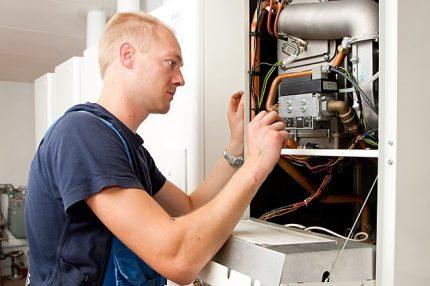 Processus de réglage de la vanne de gaz