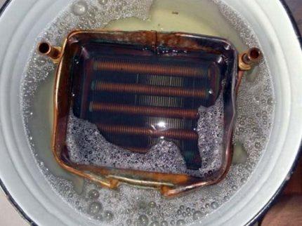 Heat exchanger flushing