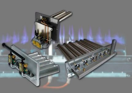 Types of atmospheric gas burners