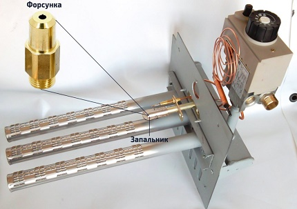 The principle of operation of an atmospheric gas burner