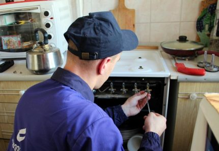Gas stove inspection