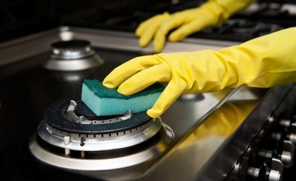 Gas stove washing
