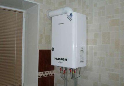Chaudière à double circuit pour le chauffage et l'eau chaude