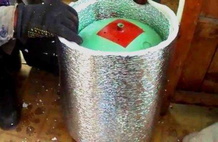 Isolation thermique d'une bouteille de gaz Izolon