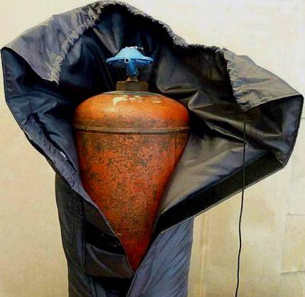 Couverture thermique pour bouteille de gaz
