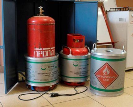 Réchauffeur de bouteille de gaz