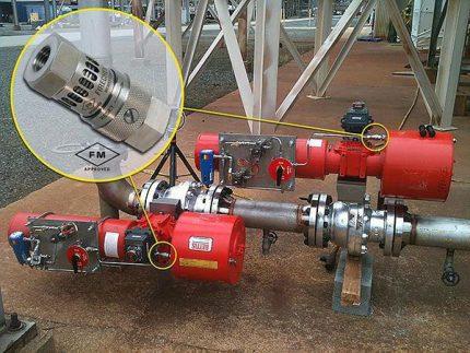 Exemple d'installation CTZ de type fileté dans une installation industrielle