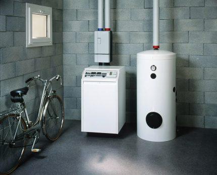 Gas boiler house