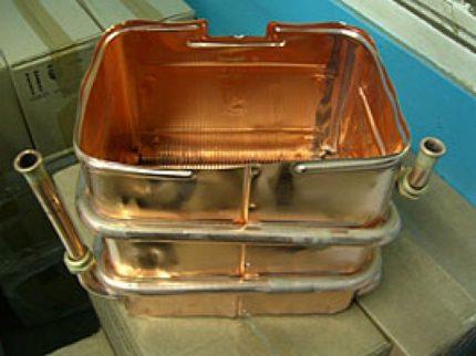 Échangeur de chaleur en cuivre
