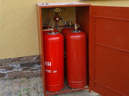 Armoire pour plusieurs cylindres