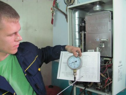 Checking the technical condition of the gas boiler