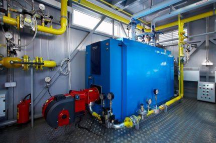 Gas boiler room